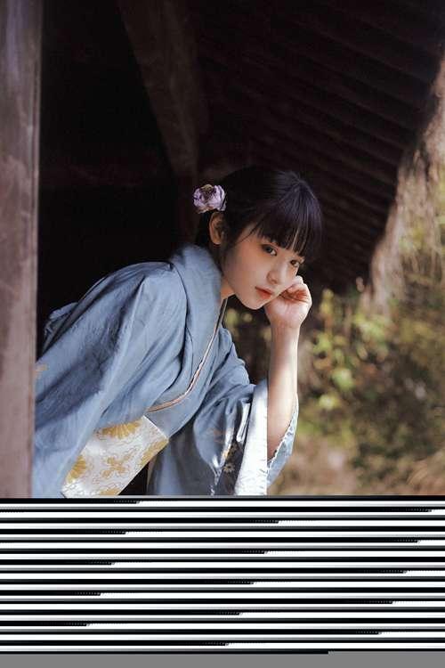日系和服美女长得小家碧玉古风摄影_WWW.66152.COM