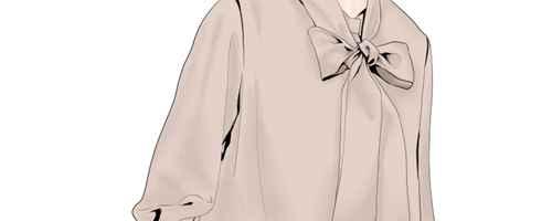 女生衬衫的小领结怎么打_WWW.66152.COM