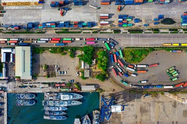 无人机航拍码头图片_WWW.66152.COM