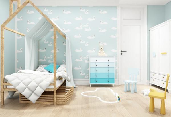 北欧风格儿童卧室设计图片_WWW.66152.COM
