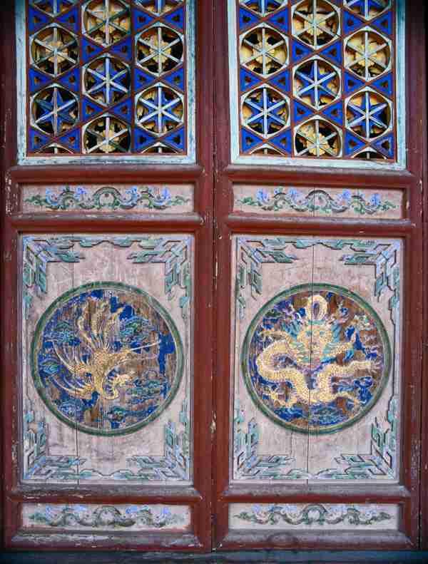 传统建筑门饰艺术图片_WWW.66152.COM