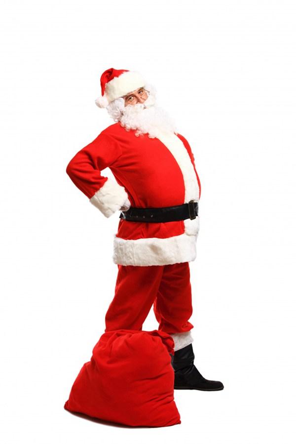 送礼物的圣诞老人图片_WWW.66152.COM