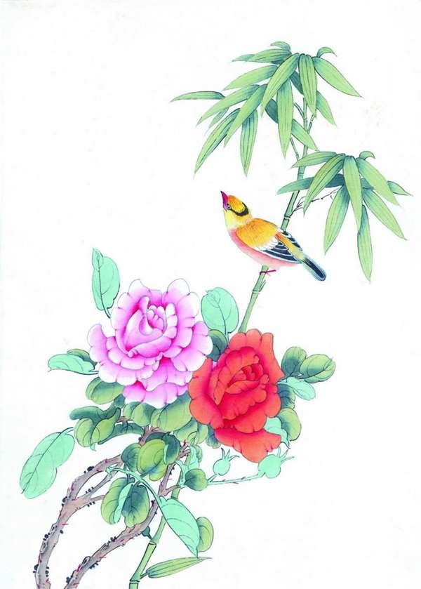 工笔花鸟图片_WWW.66152.COM
