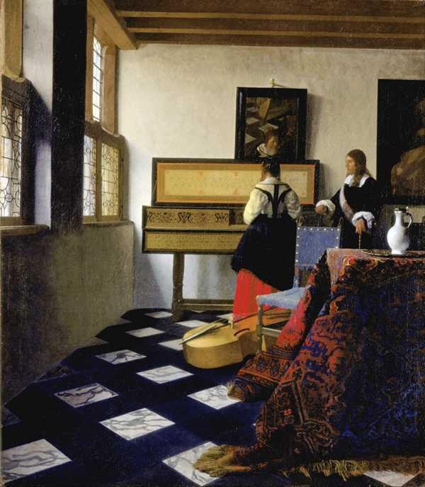 约翰内斯·维米尔绘画作品图片_WWW.66152.COM