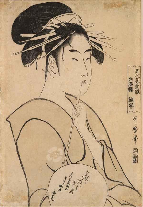 喜多川歌麿绘画系列图片_WWW.66152.COM