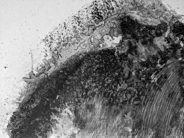 黑白抽象丙烯画图片_WWW.66152.COM