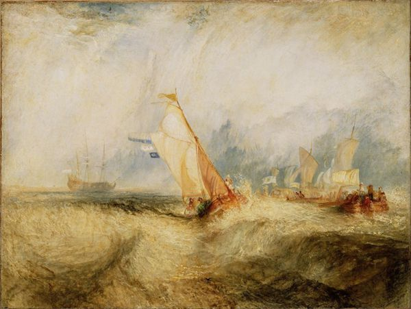 约瑟夫·马洛德·威廉·透纳绘画系列之船图片_WWW.66152.COM