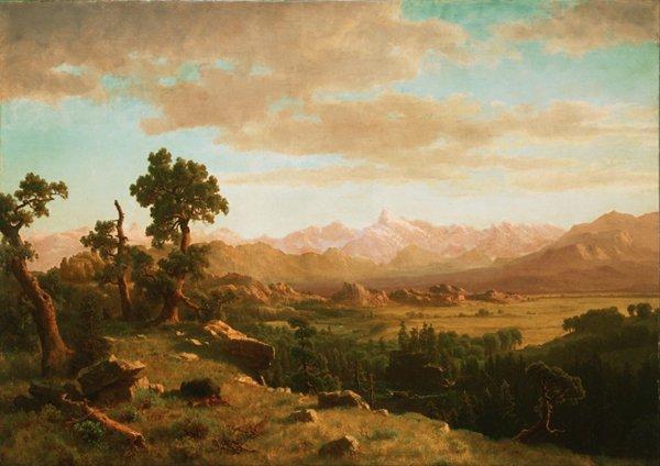 阿尔伯特·比尔施塔特风景画图片_WWW.66152.COM