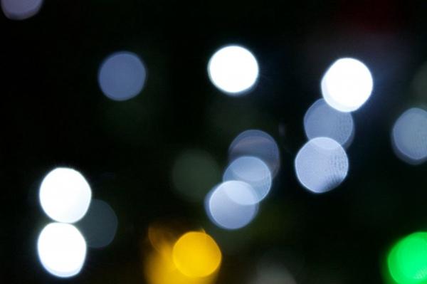 灯光的散景摄影图片_WWW.66152.COM