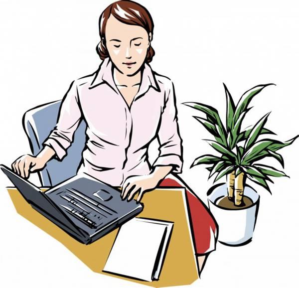 女性工作卡通矢量图片_WWW.66152.COM