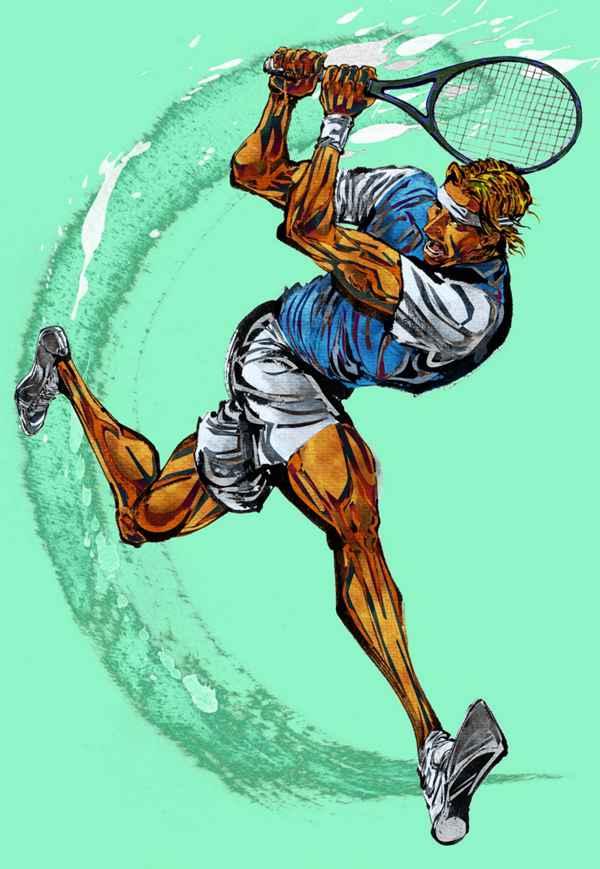 卡通网球运动矢量图片_WWW.66152.COM