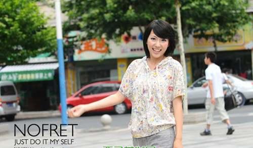 5张潮流女生斜刘海发型图片_WWW.66152.COM