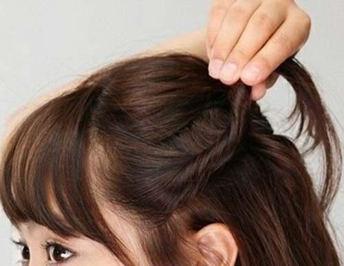 女生齐肩短发发型扎发教程_WWW.66152.COM