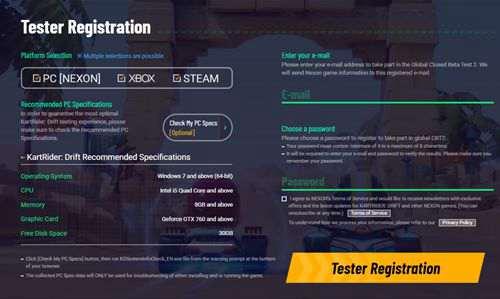 跑跑卡丁车漂移即跑跑卡丁车全球服steam平台二测注意事项_WWW.66152.COM