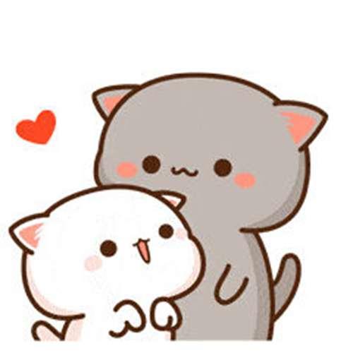 蜜桃猫动态表情包原图_共张_WWW.66152.COM