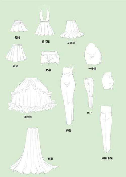 干货 各种动漫服装绘画素材_WWW.66152.COM