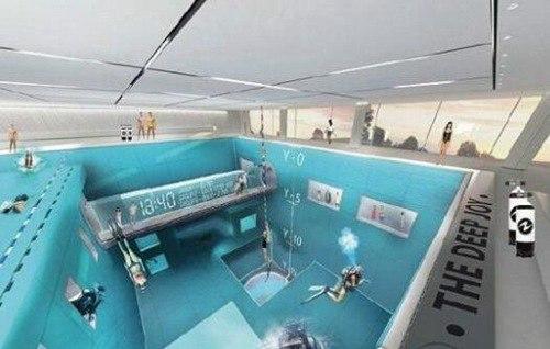 世界最深游泳池达40米_WWW.66152.COM