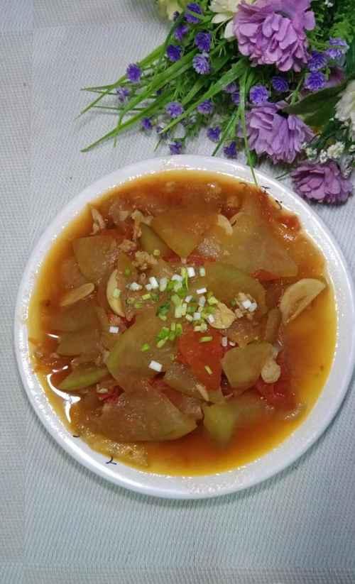 怎样做美味的冬瓜番茄炒肉末?_WWW.66152.COM