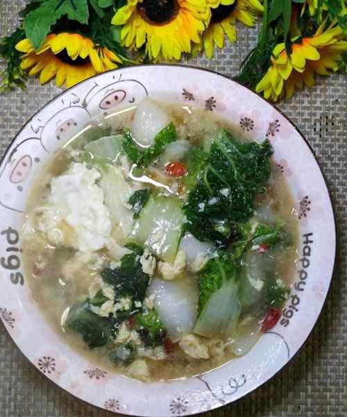 怎样做美味的乌塌菜鸡蛋汤?_WWW.66152.COM