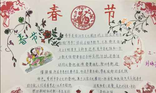 春节手抄报内容怎么写_WWW.66152.COM
